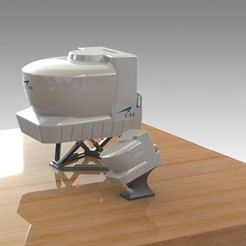 Download 3D printing files AIRCRAFT FLIGHT CAE Simulator with OPTIONAL PIGGY BANK. NEW Mini Simulator Included, Trikonics