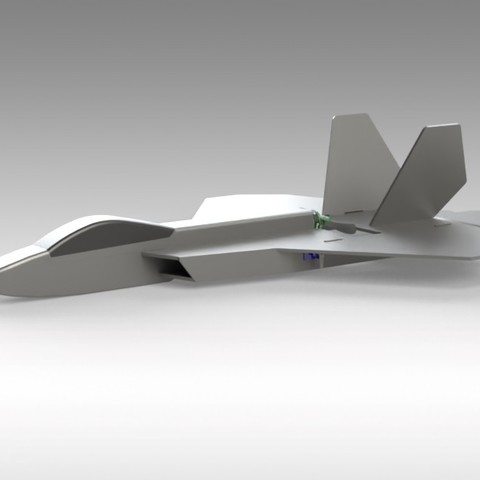 F22 Hybrid (11).jpg Download free STL file RC F22 Jet - Hybrid Build Concept using FliteTest Mighty Mini F-22 Raptor • 3D printing object, Trikonics