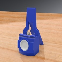 Download 3D model TRAVEL iPhone and Apple Watch DOCKING Station - With FOLDING LEG, Trikonics