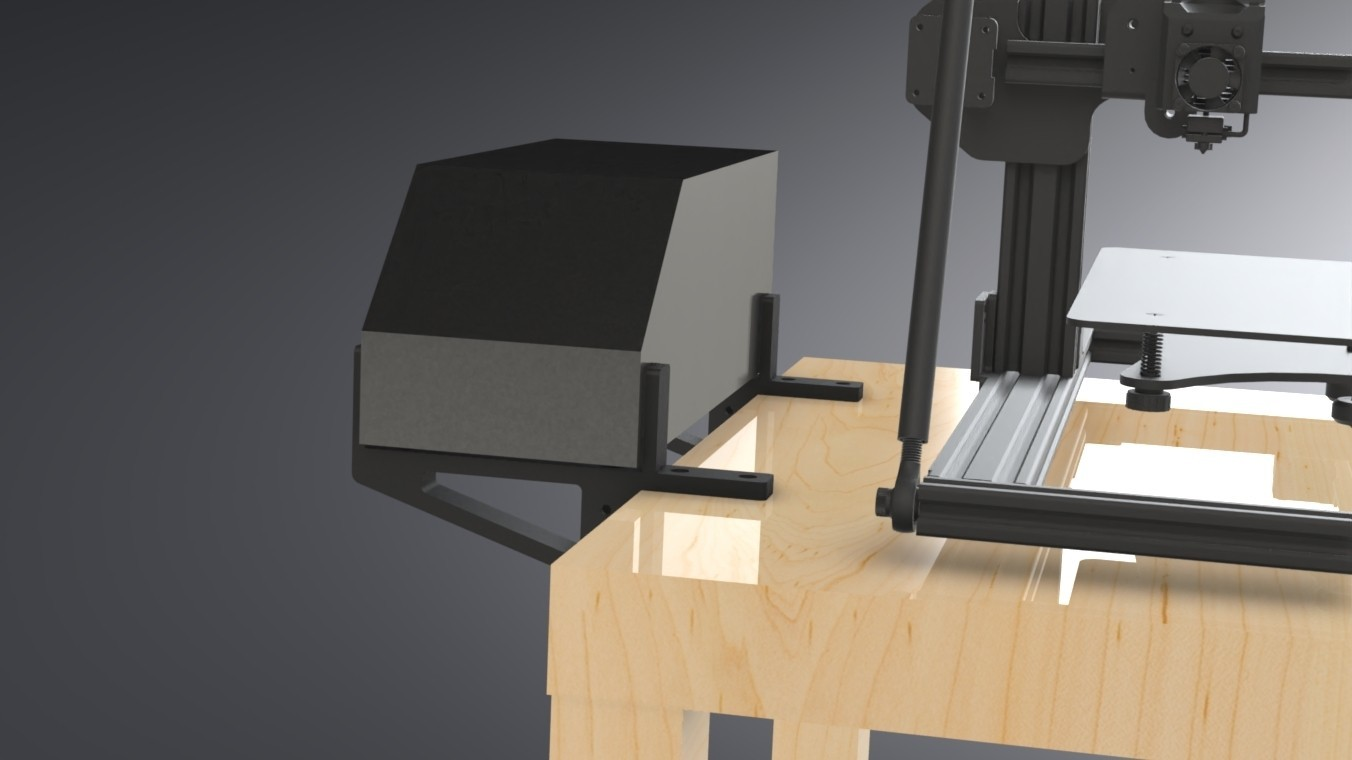 LACK Table CR-10 Control Box Support (7).jpg Download free STL file IKEA LACK Table CR-10 Control Box Support Bracket  • Object to 3D print, Trikonics