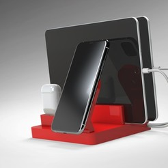 MAGSAFE (5).jpg Download STL file iPhone MagSafe Wireless Charging Station • 3D printer design, Trikonics