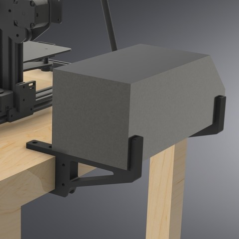 LACK Table CR-10 Control Box Support (6).jpg Download free STL file IKEA LACK Table CR-10 Control Box Support Bracket  • Object to 3D print, Trikonics