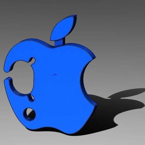Apple Earbud Cable Wrap-03-01.JPG Télécharger fichier STL gratuit Enveloppe de cordon de boutons d'oreilles aux pommes • Plan pour impression 3D, Trikonics
