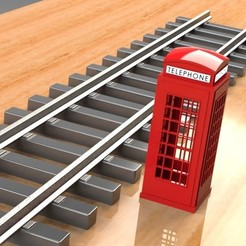 Download 3D printer designs PHONE BOOTH PROP FOR MODEL TRAIN HOBBY, Trikonics