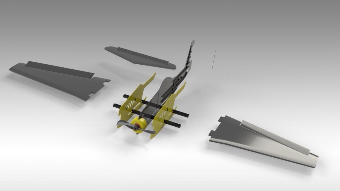 Untitled 630.jpg Download free STL file V1 Release - New RC Plane • 3D printable design, Trikonics