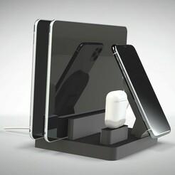 Untitled 719.jpg Télécharger fichier STL STATION DE RECHARGE SANS FIL IPHONE MAGSAFE • Modèle à imprimer en 3D, Trikonics