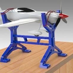 "3D print files Table STAND for RC PLANE ""IRONMAN"", Trikonics"