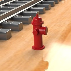 3D printing model Fire Hydrant PROP FOR MODEL TRAIN HOBBY, Trikonics