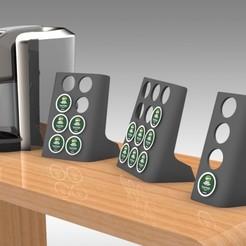 Untitled 419-A.jpg Télécharger fichier STL Keurig K-Cup Modern Stand Large, Medium et Mini - Café • Design à imprimer en 3D, Trikonics
