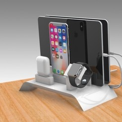 Download STL file Apple Pro Docking Station • 3D print model, Trikonics