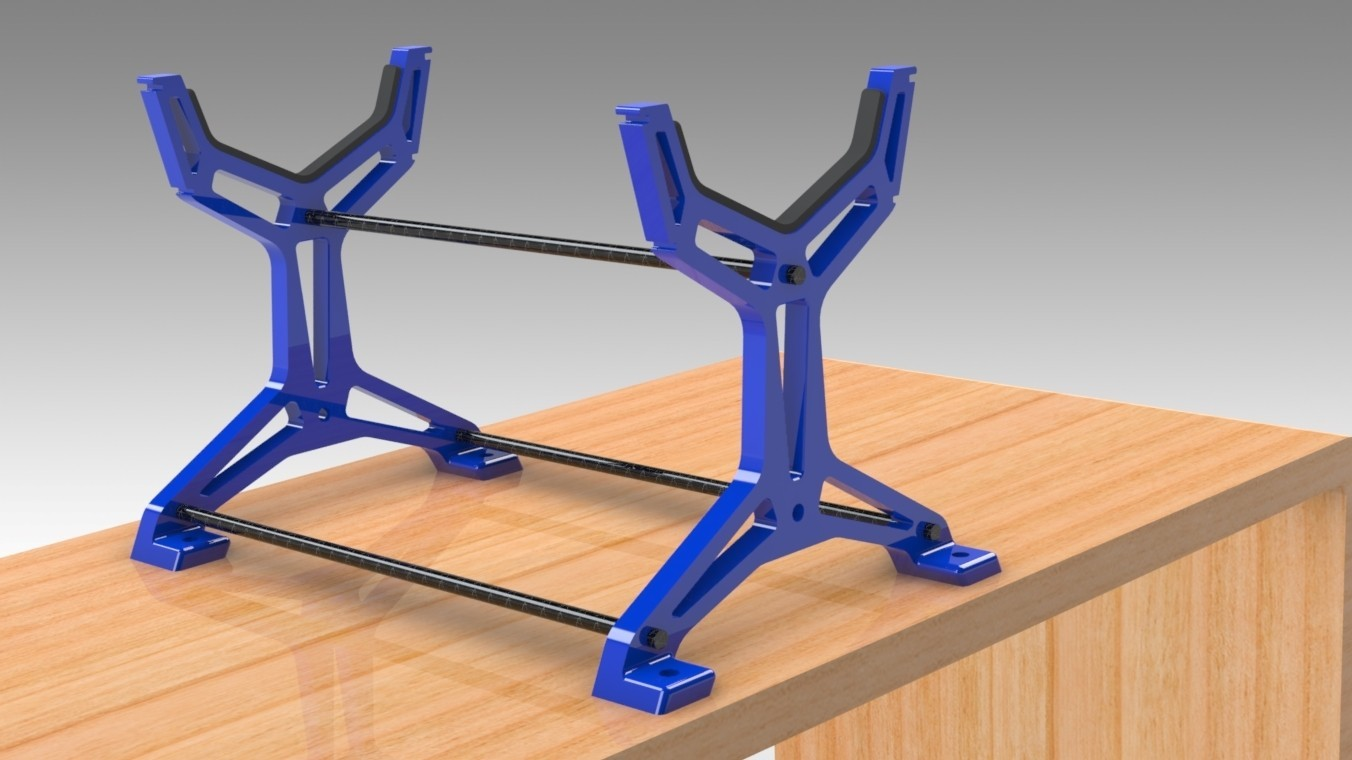 """RC Table Stand (9).jpg Download STL file Table STAND for RC PLANE """"IRONMAN"""" • 3D print template, Trikonics"""