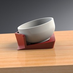 Free 3D print files Tilt-A-Bowl Stand for individuals with limited to no mobility, Trikonics