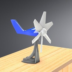 STL files Mini Wind Turbine, Trikonics