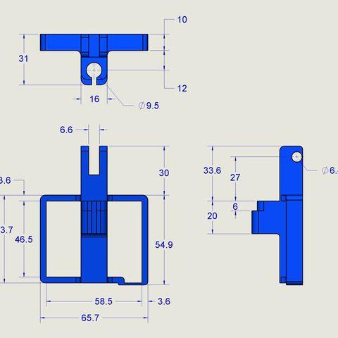 CC_Dial Holder Drawing.JPG Download free STL file CR-10 Dial Indicator Mount • 3D printer model, Trikonics