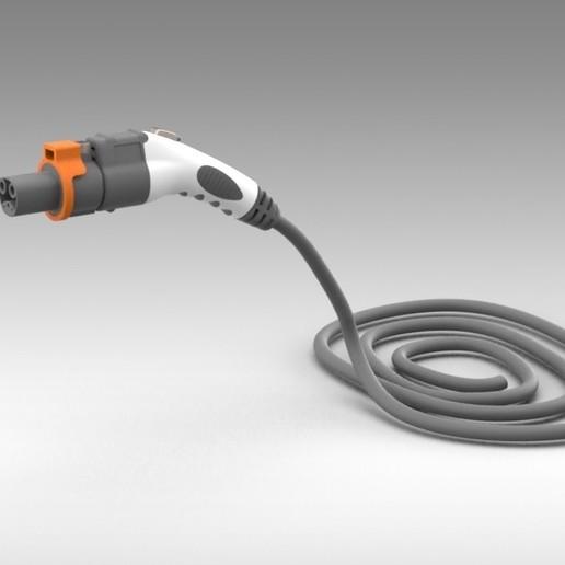 Télécharger fichier STL gratuit Tesla Modèle 3 - Chargeur de verrouillage d'adaptateur SAE J1772 • Plan imprimable en 3D, Trikonics