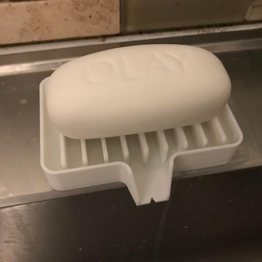 IMG_1256.JPG Télécharger fichier STL gratuit Porte-savon Lave-toi les mains, sois prudent 👍🏻 • Objet pour imprimante 3D, Trikonics