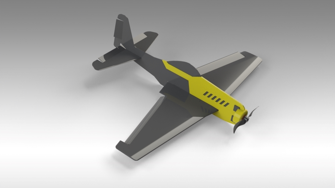 Untitled 627.jpg Download free STL file V1 Release - New RC Plane • 3D printable design, Trikonics