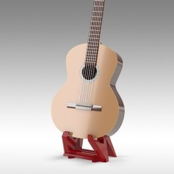 Download STL files Guitar Stand - One Piece for acoustic and electric, Trikonics