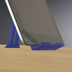 Download 3D printer designs Folding Tablet Stand for iPad, E-Reader Tablets and iPhone 10s MAX & iPhone Plus Sizes, Trikonics