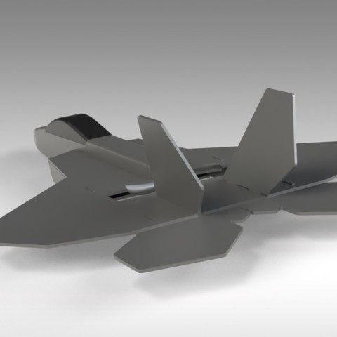 F22 Hybrid (10).jpg Download free STL file RC F22 Jet - Hybrid Build Concept using FliteTest Mighty Mini F-22 Raptor • 3D printing object, Trikonics