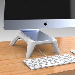 Untitled 606.jpg Download STL file Pro Monitor Stand 3 Heights • 3D print template, Trikonics