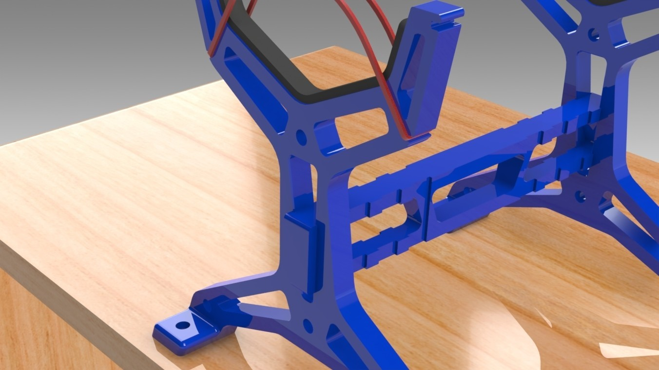 """RC Table Stand (1).jpg Download STL file Table STAND for RC PLANE """"IRONMAN"""" • 3D print template, Trikonics"""