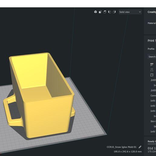 Snow Igloo Mold 5.JPG Télécharger fichier STL gratuit Moule à brique à neige pour l'extérieur - Forteresse Igloo • Objet imprimable en 3D, Trikonics