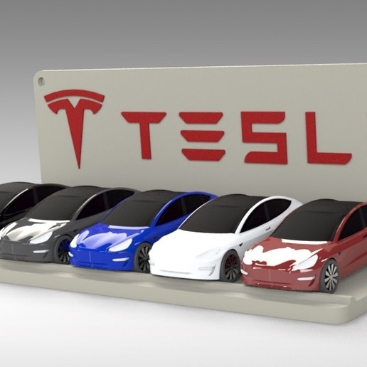 Untitled 690.jpg Download STL file Tesla Hot Wheels Stand • 3D printing model, Trikonics