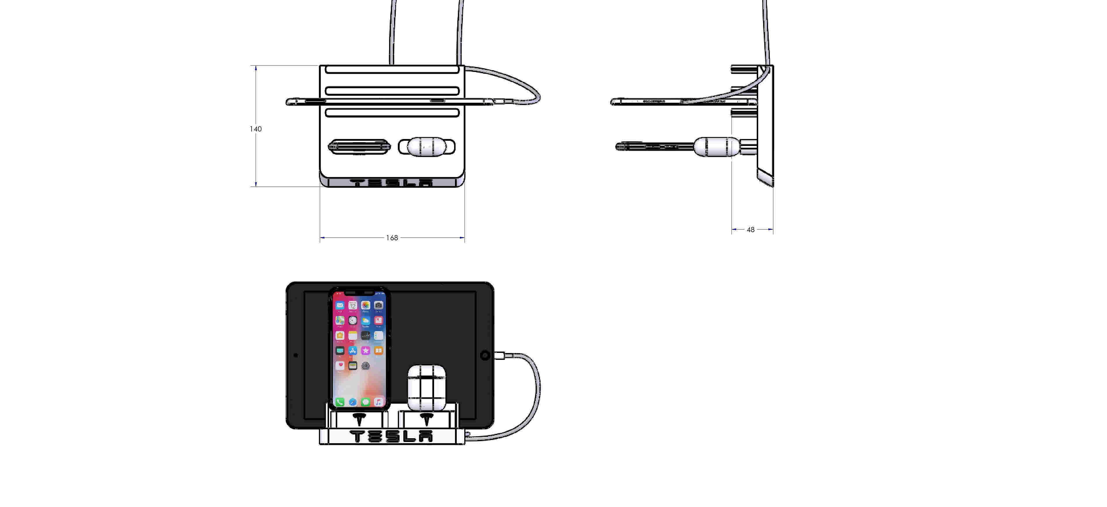 Download STL file Tesla Iphone Docking Station • 3D ...