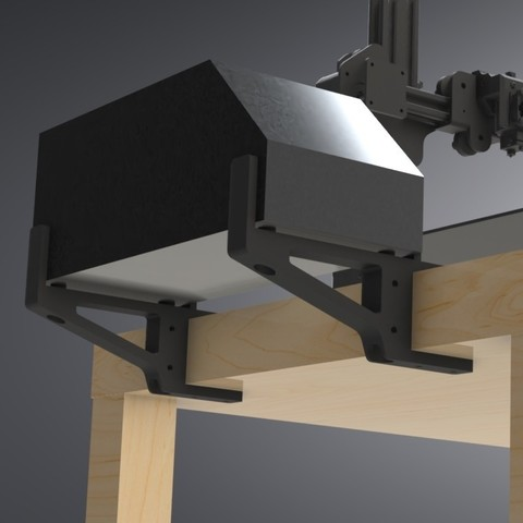 LACK Table CR-10 Control Box Support (8).jpg Download free STL file IKEA LACK Table CR-10 Control Box Support Bracket  • Object to 3D print, Trikonics