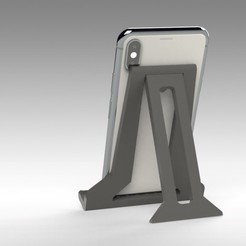 Untitled 628.jpg Download STL file NEW FOLDING TABLET STAND FOR IPAD, iPhone, E-READER • 3D print model, Trikonics