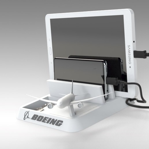 Untitled 627.jpg Download STL file BOEING - ANDROID - CELL PHONE AND TABLET HOLDER • 3D printing model, Trikonics