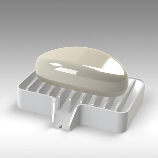 Untitled 624.jpg Télécharger fichier STL gratuit Porte-savon Lave-toi les mains, sois prudent 👍🏻 • Objet pour imprimante 3D, Trikonics