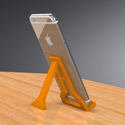 3D print files Mini Cell Phone Stand - FOLDING - Version II, Trikonics