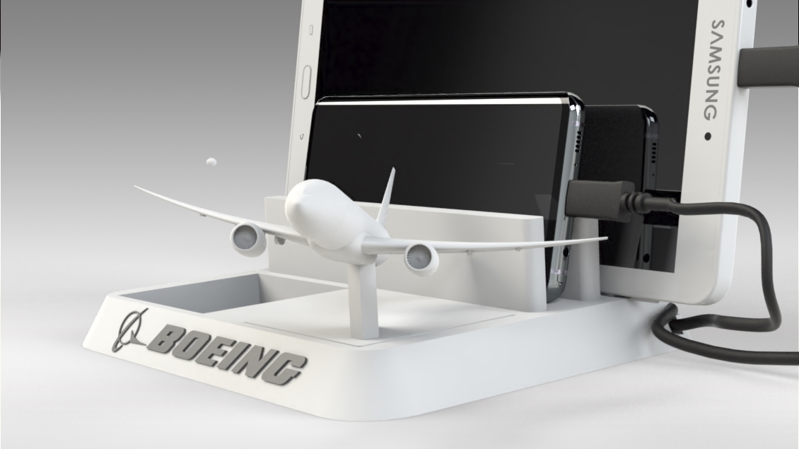 Untitled 630.jpg Download STL file BOEING - ANDROID - CELL PHONE AND TABLET HOLDER • 3D printing model, Trikonics