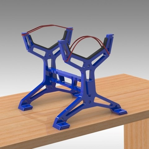 """RC Table Stand (3).jpg Download STL file Table STAND for RC PLANE """"IRONMAN"""" • 3D print template, Trikonics"""