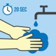 Télécharger objet 3D gratuit Porte-savon Lave-toi les mains, sois prudent 👍🏻, Trikonics