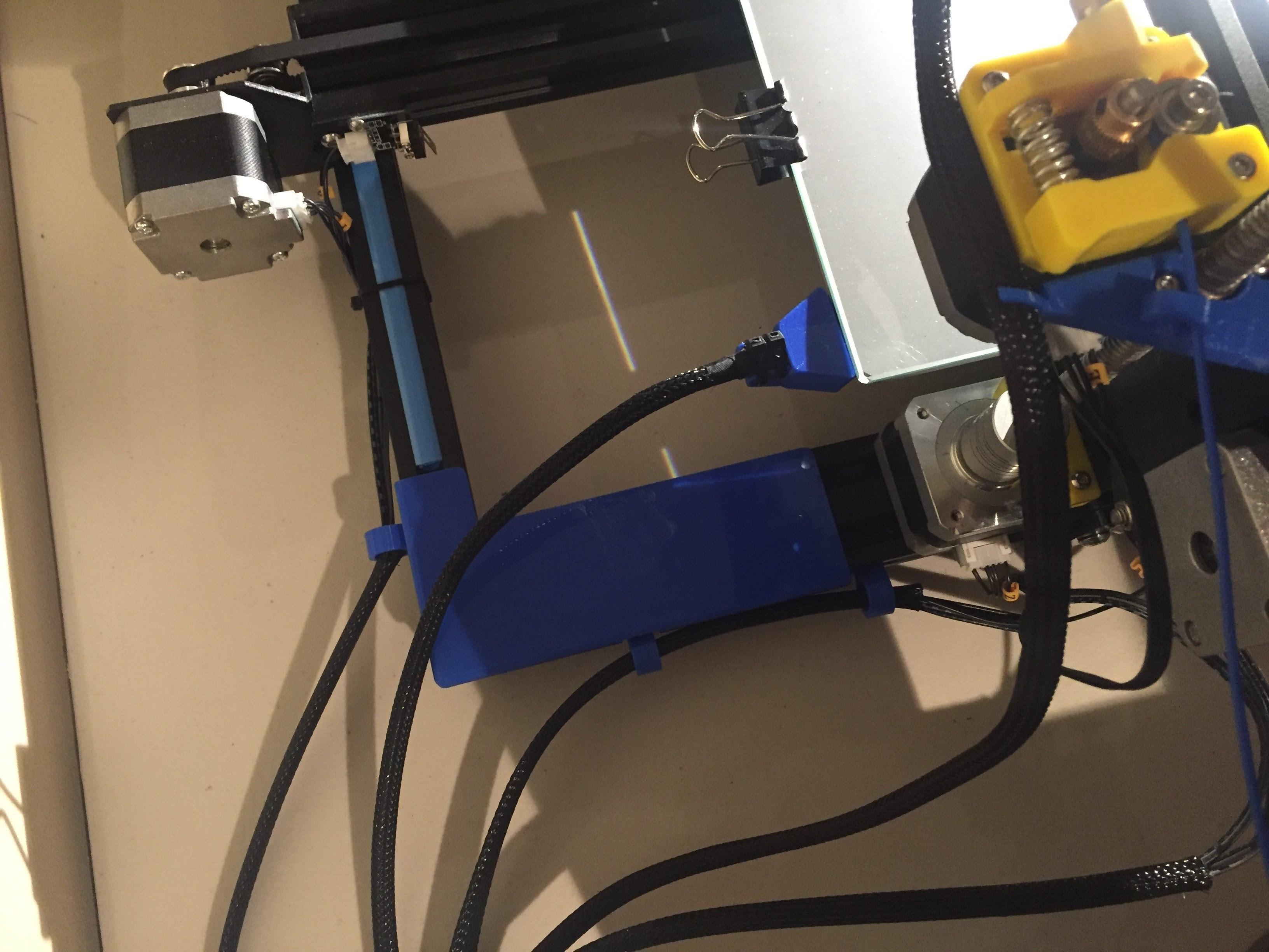 CR-10 Wire Deflector-02 (4).jpg Download free STL file CR-10 Wire Harness Wear Plate • 3D printer template, Trikonics
