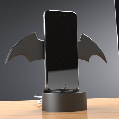 Download STL file Themed iPhone Stand - FORTNITE, Batman or Hockey, Trikonics