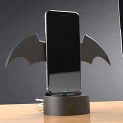 Download STL file Themed iPhone Stand - FORTNITE, Batman or Hockey, Trikonics
