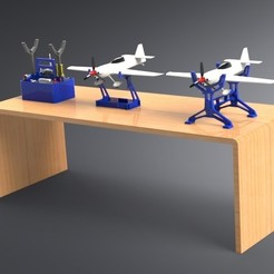3D printing model RC Combo Pack - TOOLBOX, TABLE STAND and CENTER OF GRAVITY BALANCE, Trikonics