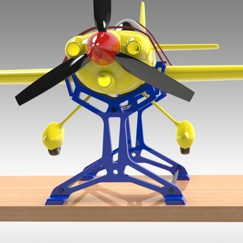 """RC Table Stand (13).jpg Download STL file Table STAND for RC PLANE """"IRONMAN"""" • 3D print template, Trikonics"""