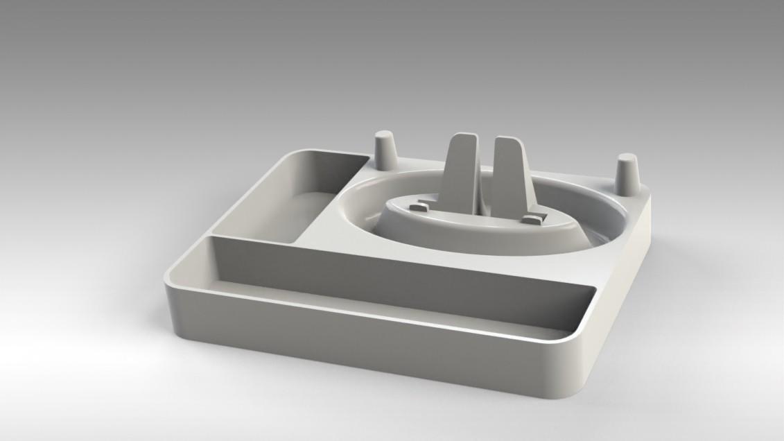 Untitled 17.jpg Télécharger fichier STL gratuit Organisateur de maquillage Smart Dock • Design à imprimer en 3D, Trikonics
