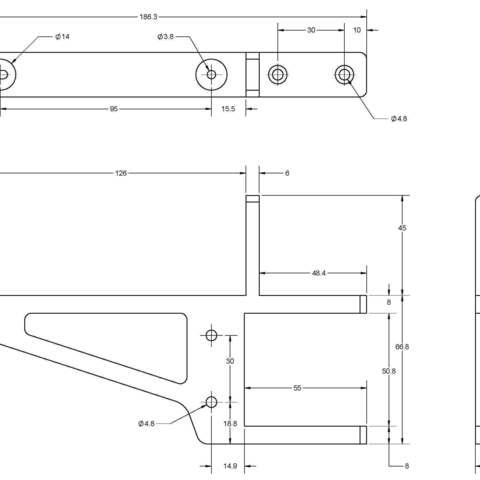 Lack Support-Bracket SPEC.jpg Download free STL file IKEA LACK Table CR-10 Control Box Support Bracket  • Object to 3D print, Trikonics