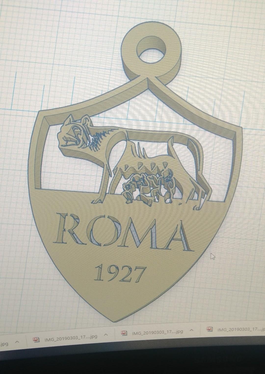 IMG_20190303_180254.jpg Télécharger fichier STL gratuit porte clef AS ROMA • Design à imprimer en 3D, pintusanthony