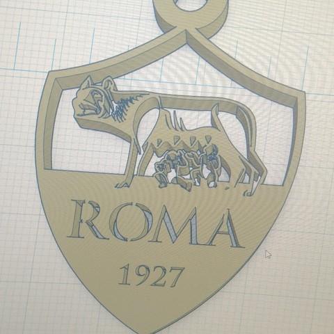 Download free STL file key ring AS ROMA • 3D printable design, pintusanthony