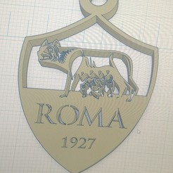 Download free 3D print files key ring AS ROMA, pintusanthony