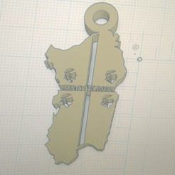 Download free 3D printing files Sardinia key ring, pintusanthony