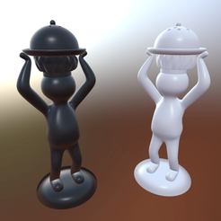 Rendu.png Download free STL file Pepper & Salt Culinary Aids • Template to 3D print, cathytritschler
