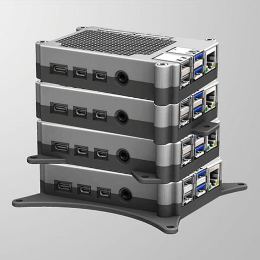 RPI4-2.png Télécharger fichier STL gratuit Étui Pi 4B Framboise Framboise • Objet pour imprimante 3D, mkellsy
